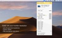 Displays screenshot: list all resolutions