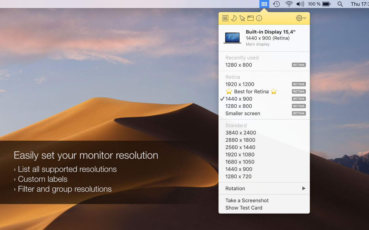 Displays: manage your monitors and mon on macOS – Jibapps
